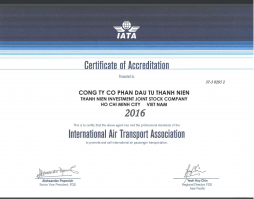 Giay-chung-nhan-IATA-ThanhNien-Certificate-2016